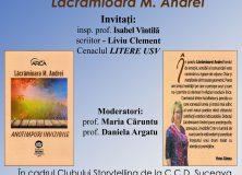 Lansare de carte-Anotimpuri invizibile de Andrei Lăcrămioara