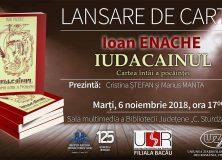 LANSARE DE CARTE- IUDACAINUL- IOAN ENACHE