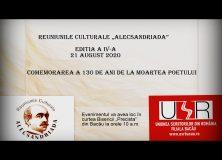 """Reuniunile Culturale """"ALECSANDRIADA"""" ediția a IV-a, 2020"""